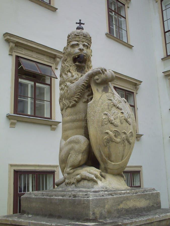 Hofburg故宫入口在维也纳,奥地利 图库摄影
