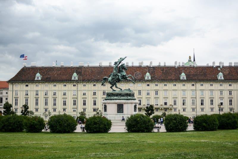Hofburg皇家宫殿在维也纳 免版税库存照片