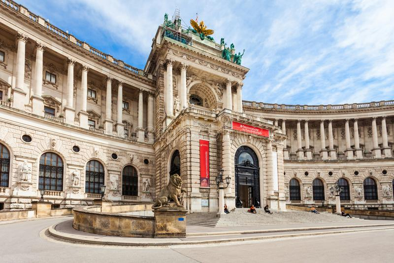hofburg皇家宫殿维也纳 免版税库存图片
