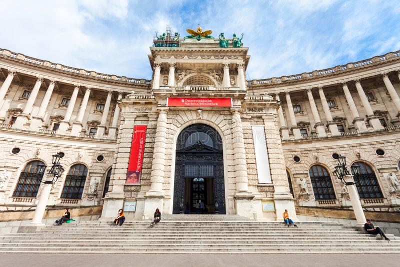 hofburg皇家宫殿维也纳 免版税图库摄影