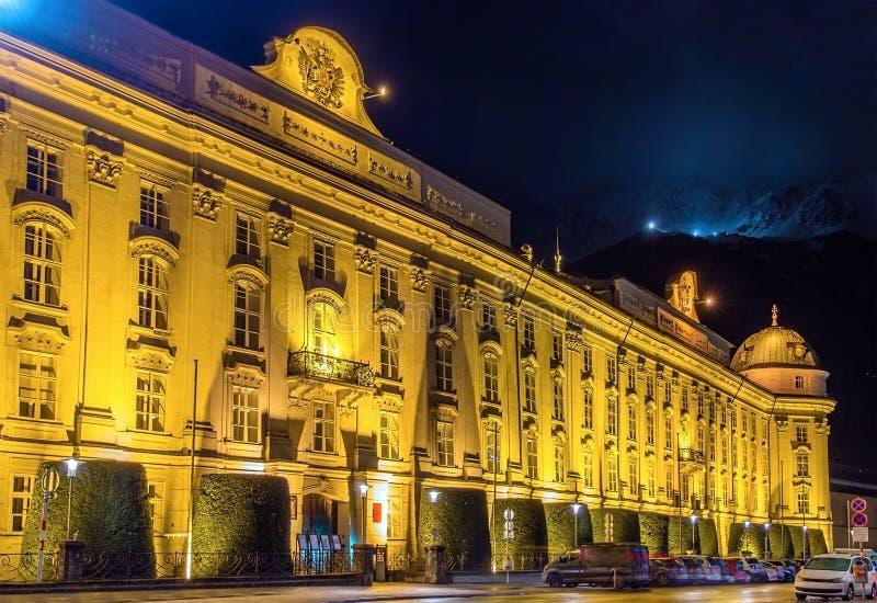 Hofburg (故宫)在因斯布鲁克 免版税库存图片