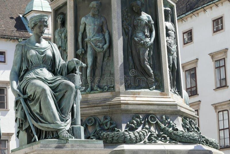 Hofburg pałac w Wiedeń obrazy royalty free