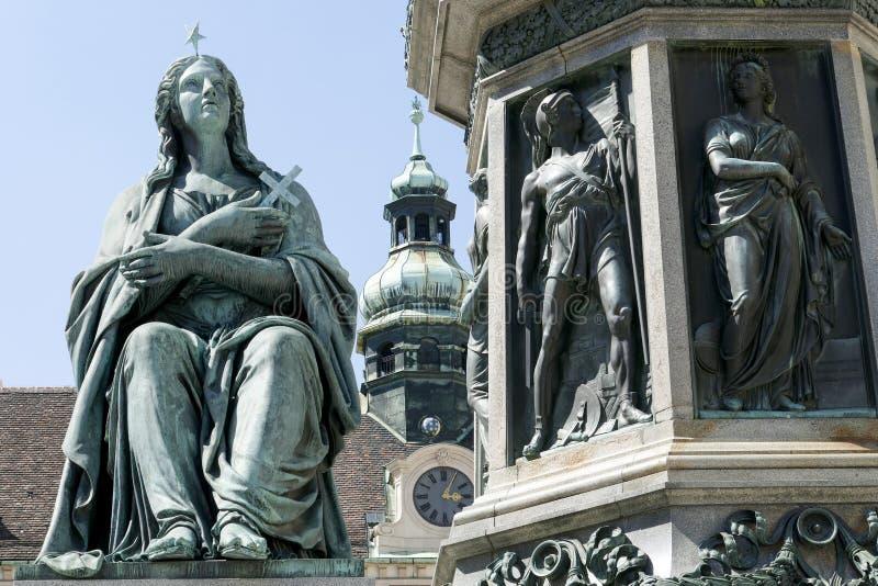 Hofburg pałac w Wiedeń obrazy stock