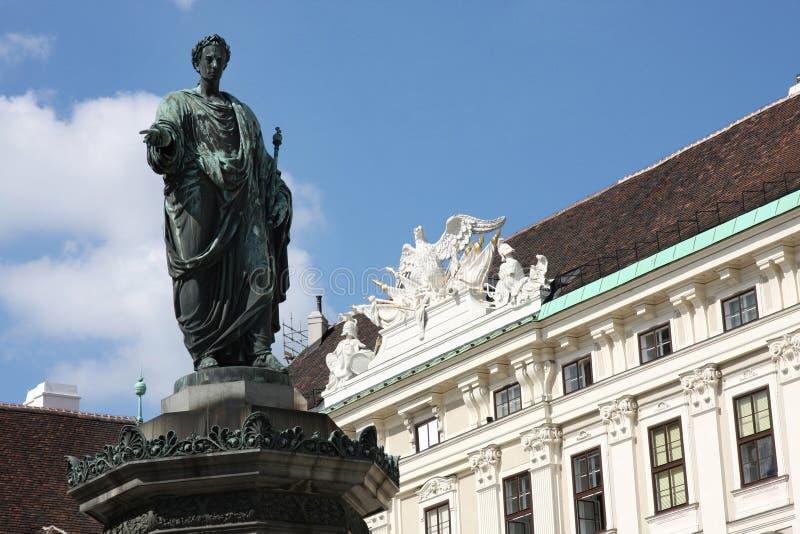 Hofburg slottborggård i Wien, Österrike arkivbilder