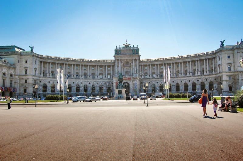 Hofburg in Wenen, Oostenrijk stock foto's
