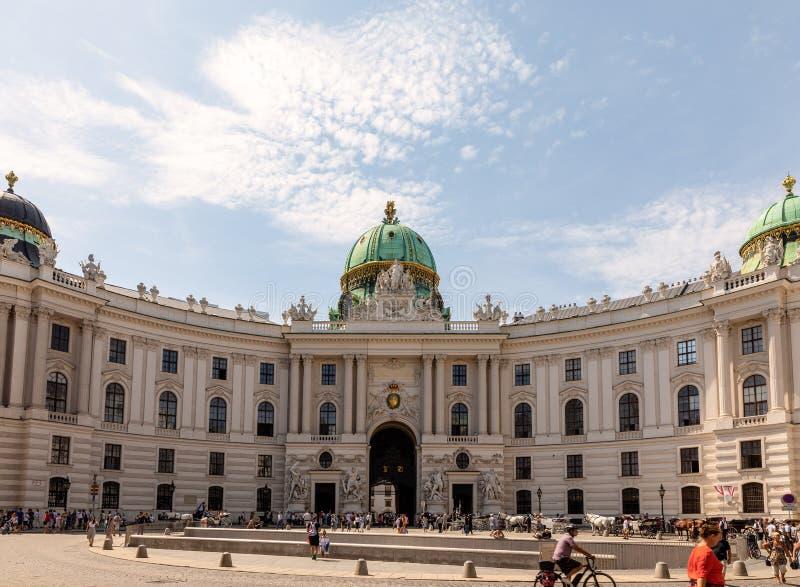 Hofburgpaleis, een oriëntatiepunt in Wenen, Oostenrijk royalty-vrije stock foto's