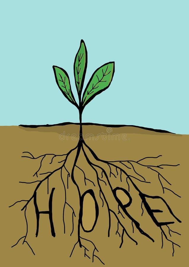 Hoffnung lizenzfreie abbildung