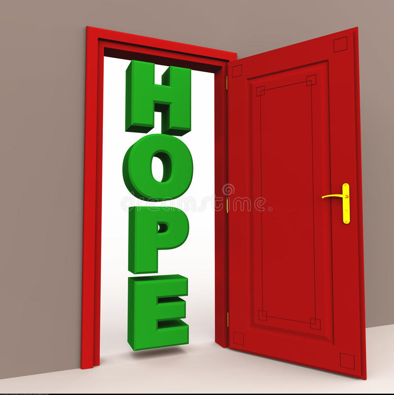 Hoffnung an der Tür lizenzfreie abbildung