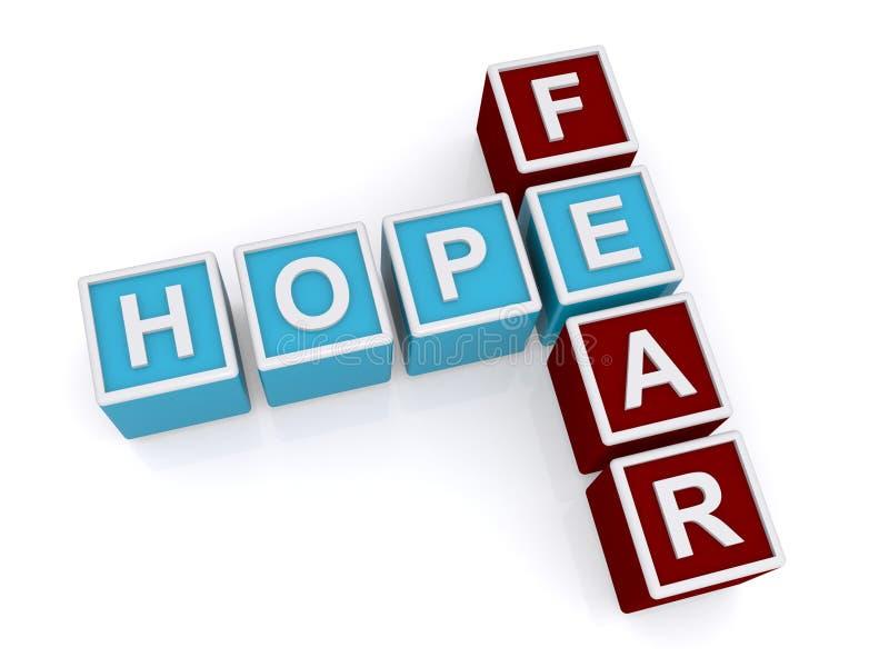 Hoffnung, Furcht stock abbildung