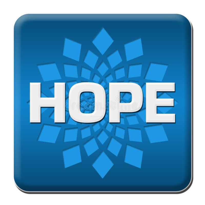 Hoffnungs-blaues gerundetes Quadrat mit Element stock abbildung