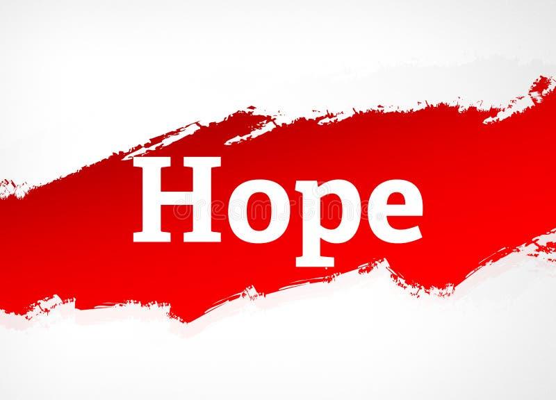 Hoffnungs-rote Bürsten-Zusammenfassungs-Hintergrund-Illustration stock abbildung