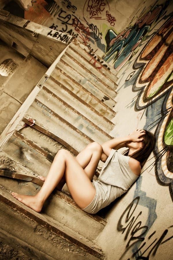 Hoffnungslose Frau lizenzfreies stockfoto