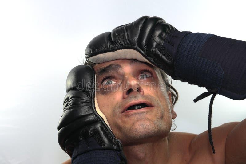 Download Hoffnungsloser Boxer stockfoto. Bild von sport, erwachsener - 27727364
