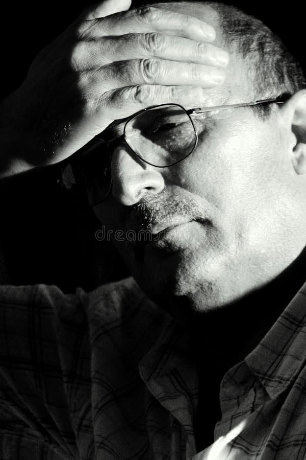Hoffnungsloser Mann stockfoto
