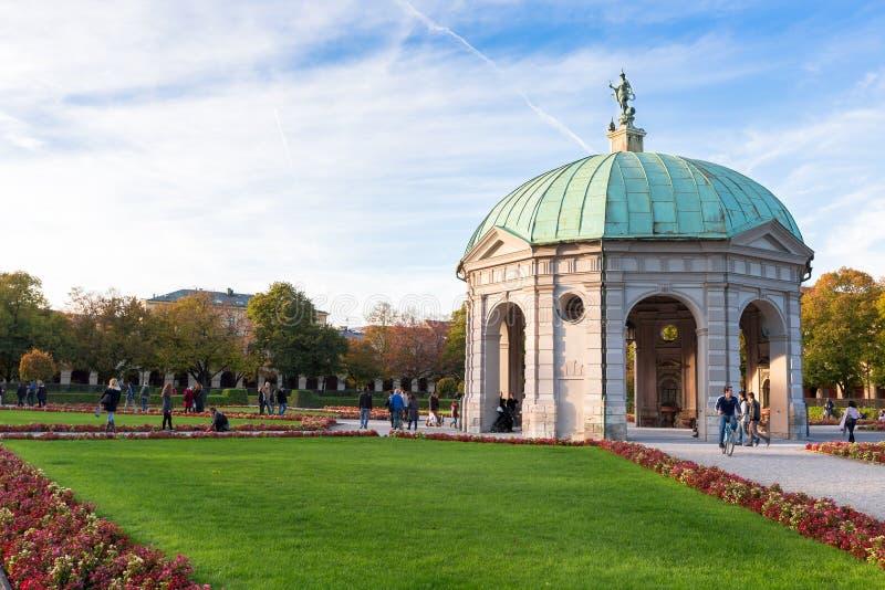 Hofgarten at noon,Munich. Germany stock image