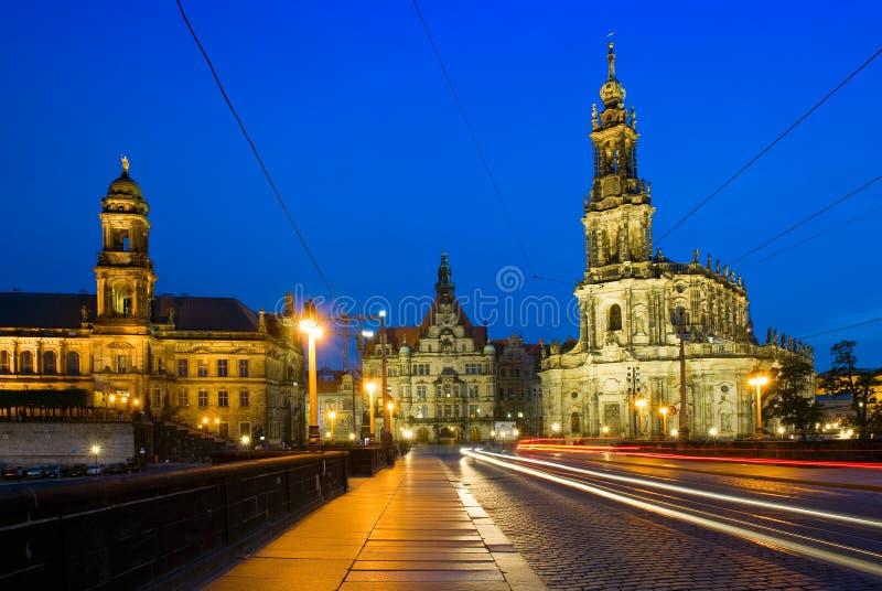 Hofkirche在德累斯顿,德国 库存照片