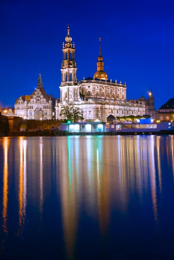Hofkirche在德累斯顿,德国 库存图片