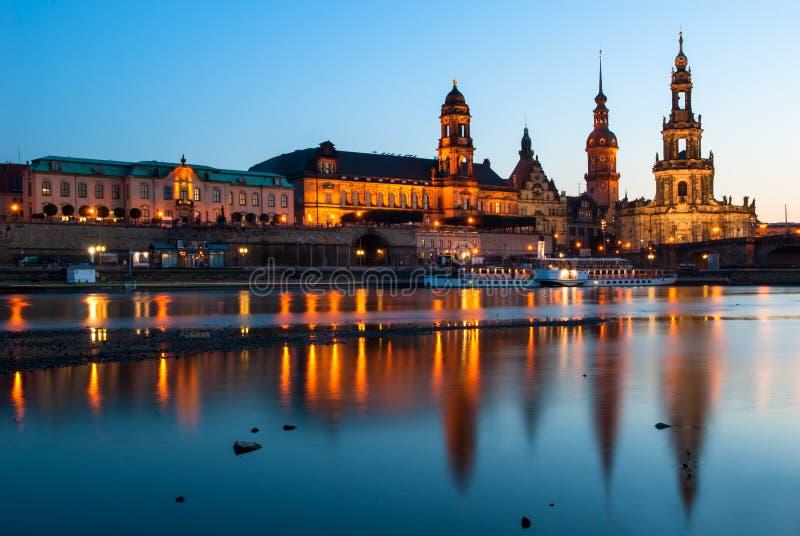 Hofkirche在德累斯顿,德国 免版税库存图片