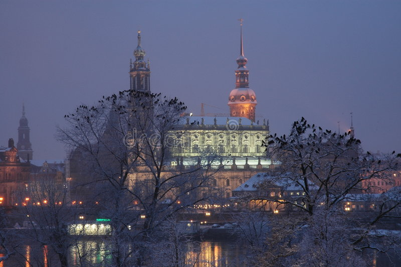 Hofkirche à Dresde, Allemagne photos stock