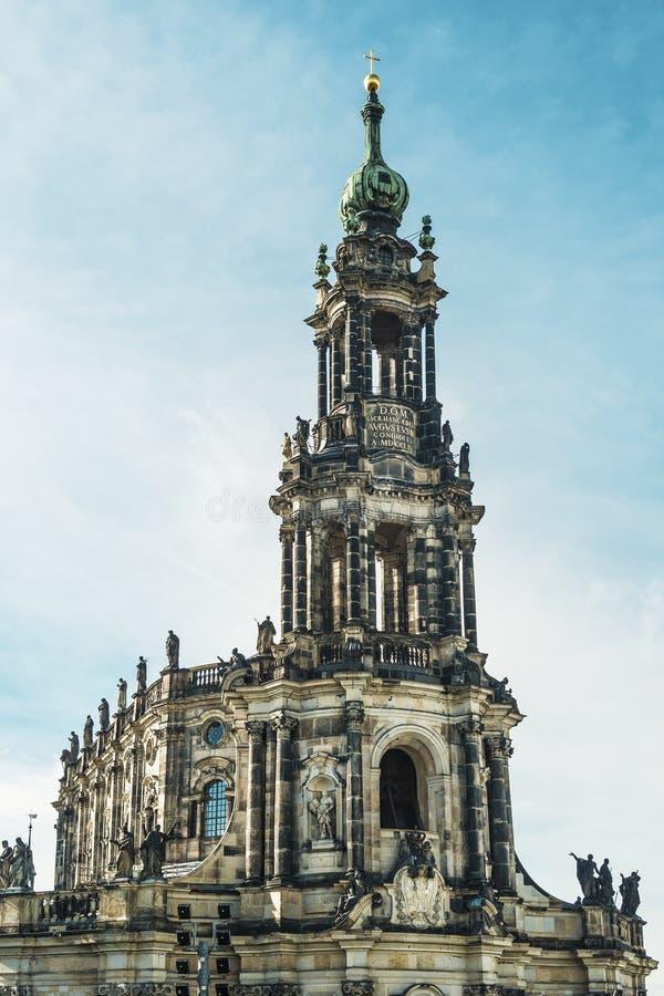 Hofkirche Дрезден стоковое фото rf
