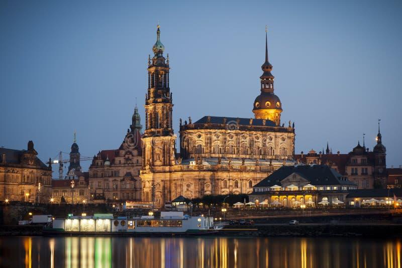 Hofkirche Dresden royalty-vrije stock afbeelding