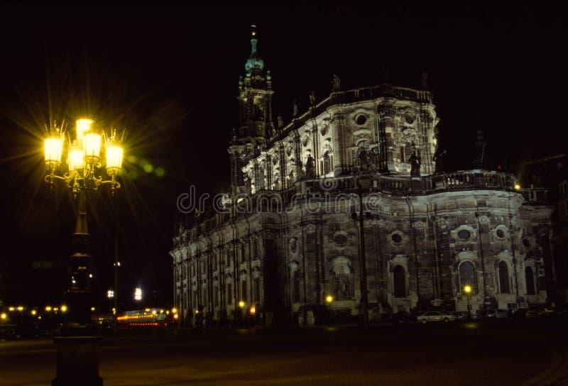 Hofkirche Dresden royalty-vrije stock foto's