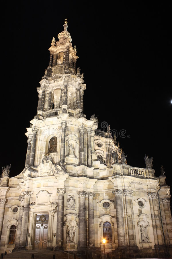 hofkirche dresden стоковая фотография