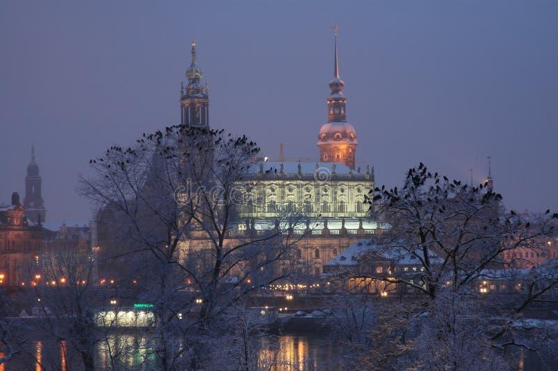 Hofkirche in Dresden, Duitsland stock foto's