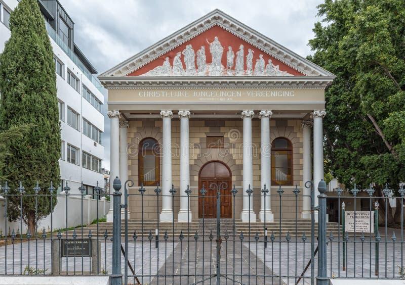 Hofmeyer Corridoio della chiesa di madre riformata olandese in Stellenbosc fotografia stock libera da diritti