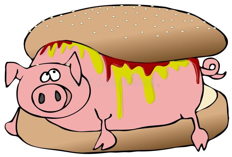 Hog Dog vector illustration