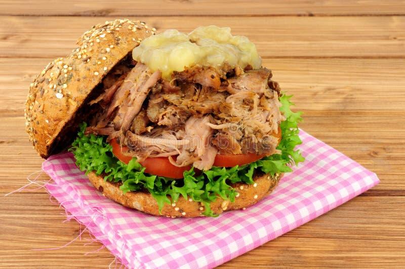 Hog Roast Sandwich royalty free stock photography