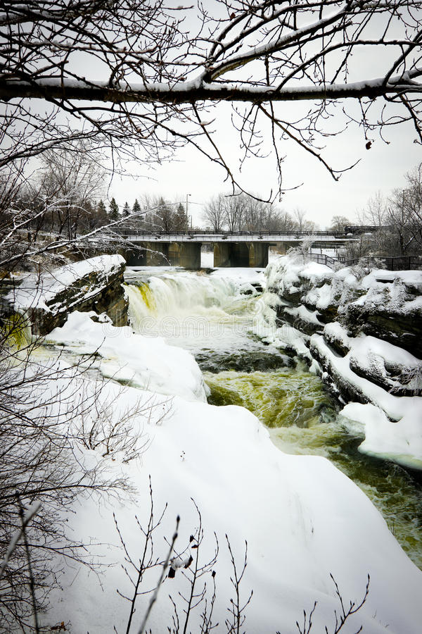 Download Hog's Back Falls In Ottawa, Canada In Winter. Royalty Free Stock Image - Image: 23189596
