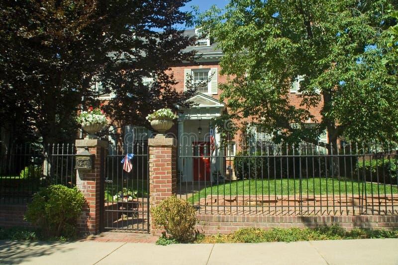 Hogar americano clásico de la mansión de los 1800s en Denver imágenes de archivo libres de regalías