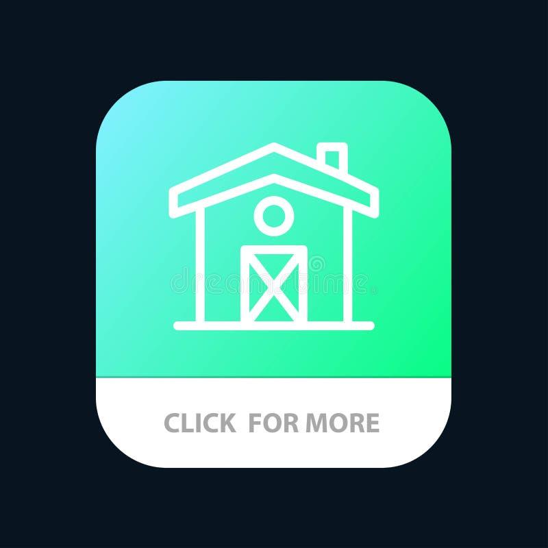 Hogar, casa, botón móvil del App de Canadá Android y línea versión del IOS ilustración del vector