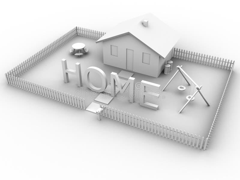 Hogar con la casa libre illustration