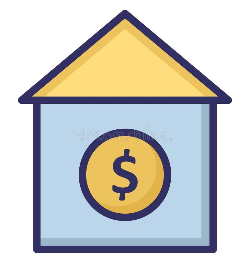 hogar costoso, icono aislado casero del vector que puede ser fácilmente corregir o se modificó stock de ilustración
