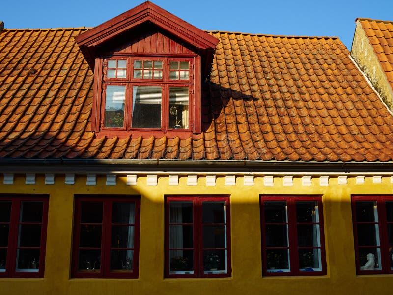 Hogar danés Denma de la casa del viejo estilo decorativo clásico tradicional fotografía de archivo