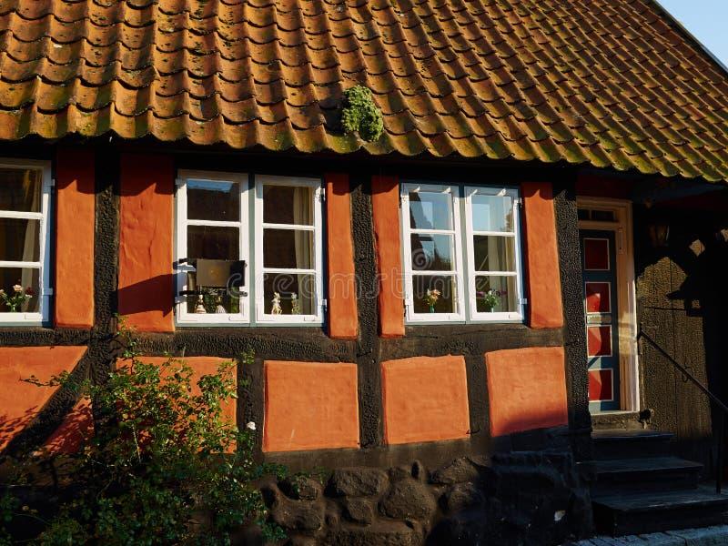 Hogar danés Denma de la casa del viejo estilo decorativo clásico tradicional imágenes de archivo libres de regalías