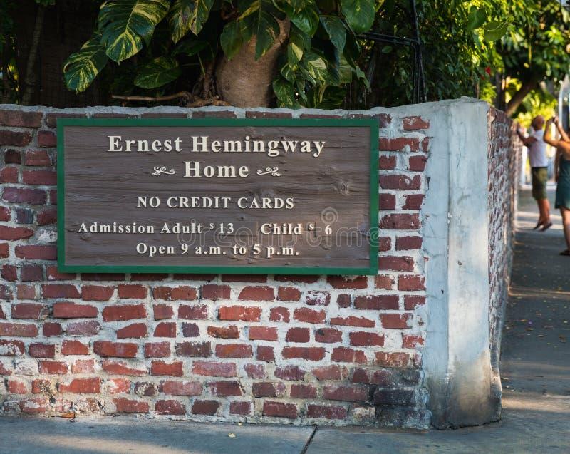 Hogar de Hemingway fotos de archivo libres de regalías