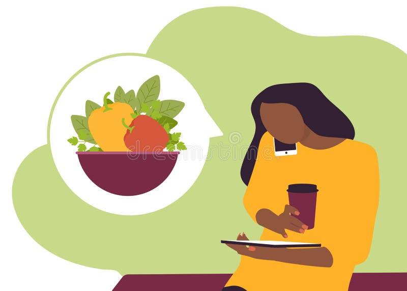 Hogar de la comida fresca del veg de la entrega ilustración del vector