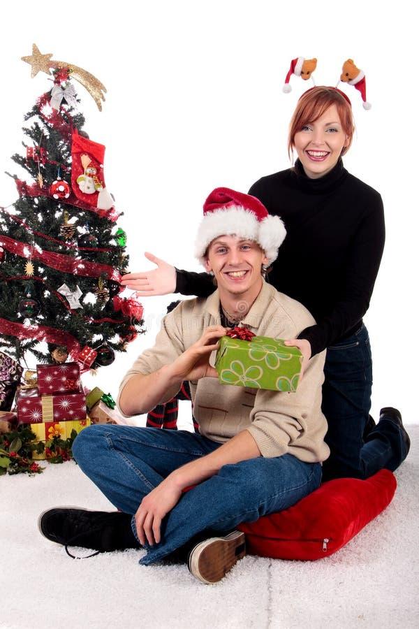 Hogar de la Navidad de los pares foto de archivo