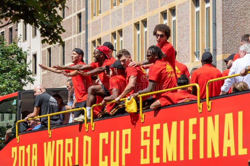 Hogar de la parte posterior del equipo de fútbol de Bélgica foto de archivo