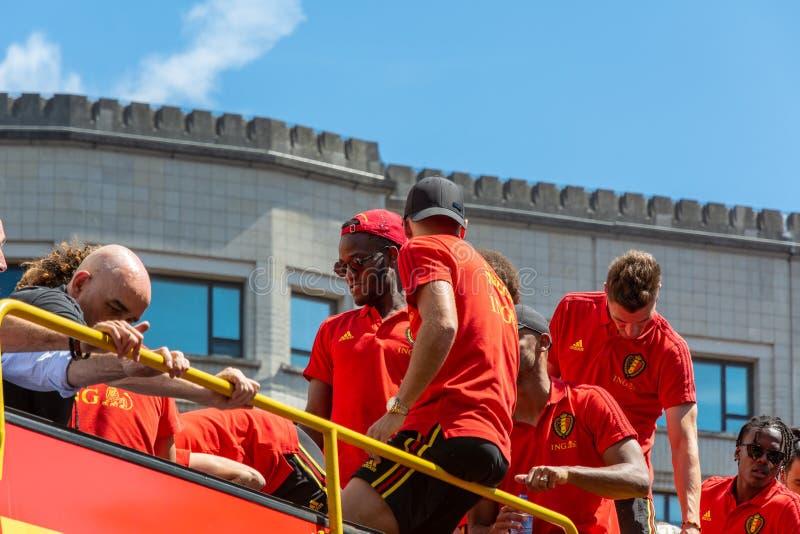 Hogar de la parte posterior del equipo de fútbol de Bélgica imagen de archivo libre de regalías