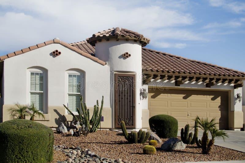 Hogar de lujo del desierto en Arizona fotografía de archivo libre de regalías