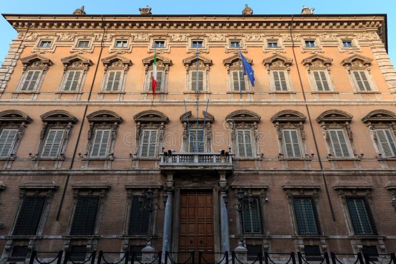 Hogar de Palazzo Madama del palacio de Roma Madama del senado de la república italiana imagen de archivo libre de regalías