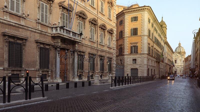 Hogar de Palazzo Madama del palacio de Roma Madama del senado de la república italiana imágenes de archivo libres de regalías