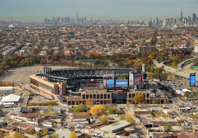 Hogar del campo de Citi del Mets foto de archivo