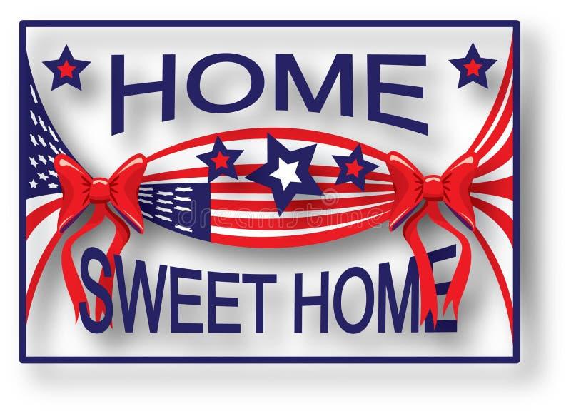 Hogar del dulce del hogar del indicador americano libre illustration