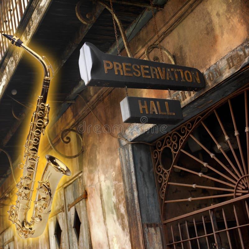 Hogar del jazz - New Orleans - Luisiana - los E.E.U.U. imágenes de archivo libres de regalías