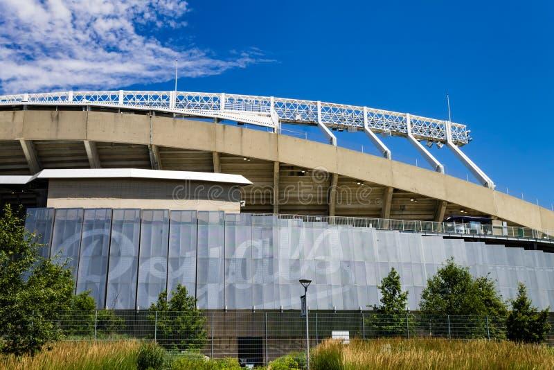 Hogar del Kauffman Stadium de los Royals de Kansas City imagen de archivo
